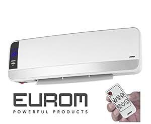 eurom chauffage radiateur convecteur mural electrique wall designheat 2000w bricolage. Black Bedroom Furniture Sets. Home Design Ideas