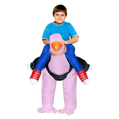 Deanyi Kinder-Halloween-Kostüm Cosplay Aufblasbare Weihnachten Strauß aufblasbare Kleidung Karnevals-Party Performance Service ohne - Strauß Kostüm Kind