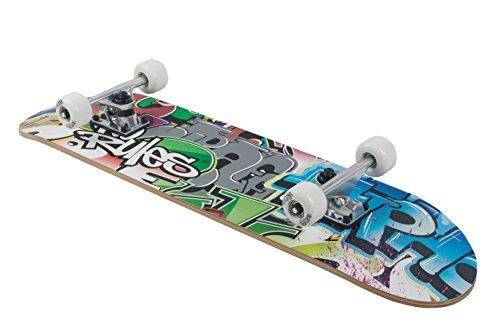 Skateboard ABEC 5, No Rules, Graffiti mit Rucksack