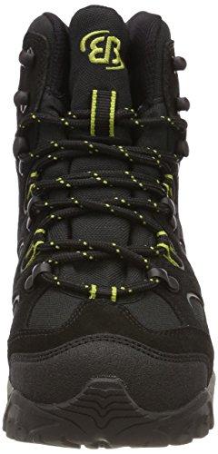 Brütting Takoma, Chaussures de Randonnée Hautes Homme Noir (Schwarz/grau/lemon)