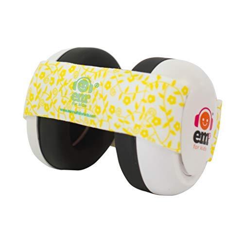 Em's 4 Bubs Gehörschutz für Babys, 0-18 Yellow Floral (Baby Banz Ohrenschützer)
