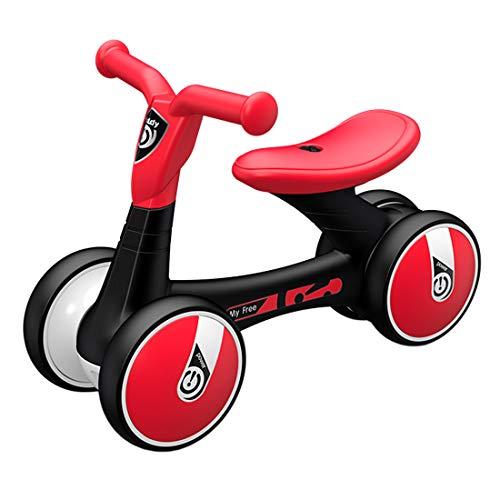 Jo332Bertram Kinder Laufrad Balance Fahrrad Lauffahrrad Baby Lernlaufrad Erstes Fahrrad für Kinder 18-36 Monate, Schwarz