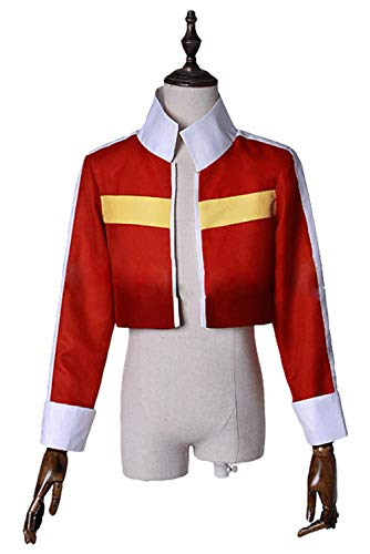 Voltron:Legendary Defender of The Universe Keith Akira Kogane Jacke Cosplay Kostüm Rot Damen ()