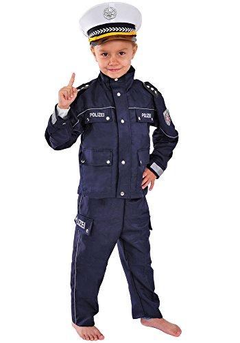 Polizei Kinder Kostüm 110-116 für Fasching Karneval Polizist