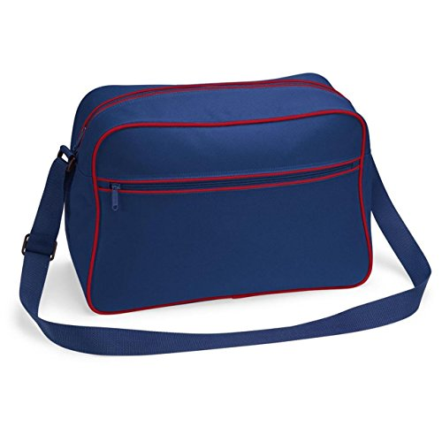BagBase, Borsa a spalla uomo French Navy/Classic Red