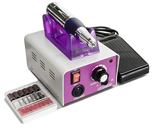 Torno Profesional para Manicura y Pedicura de 30.000 RPM con 6 fresas y accesorios (M25000)