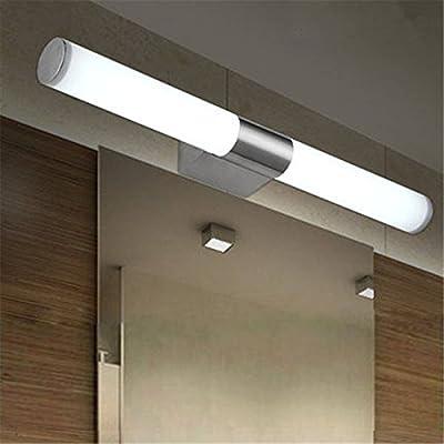 SODIAL(R) 10W LED AC110-220V Weiss Spiegelleuchte Edelstahl ...