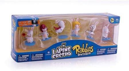 A.K TRADING    Coffret DE 6 Figurines Lapins CRETINS | Prix Très Raisonnable  374b4a