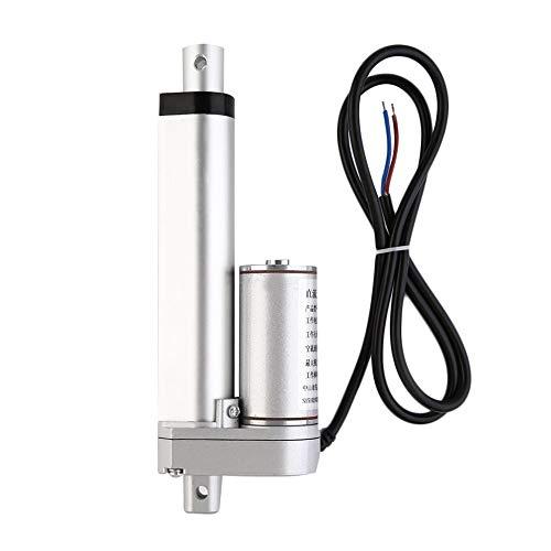 Justdodo Multi-Function Linear Actuator Motor Direct-Current 12V 100mm  Stroke Heavy Duty 500N 100MM Stroke Electric Telescopic Rod - Silver - 100m
