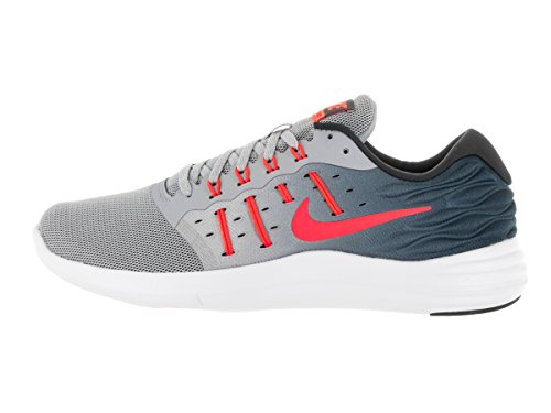 Nike Lunarstelos, Chaussures de Running Entrainement Homme Gris (Wolf Grey / Total Crimson-Anthracite-White)