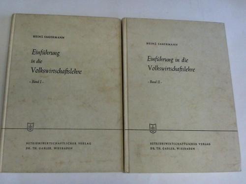 Einführung in die Volkswirtschaftslehre, Band I und II. 2 Bände