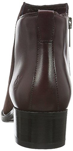Marc O'Polo Mid Heel Bootie, Bottes Classiques femme Rouge - Rot (Wine 385)
