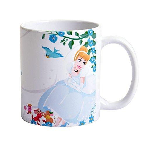 Disney Cinderella Tasse Aschenputtel Believe in Yourself von Elbenwald 320ml Keramik weiß (Disney Keramik)