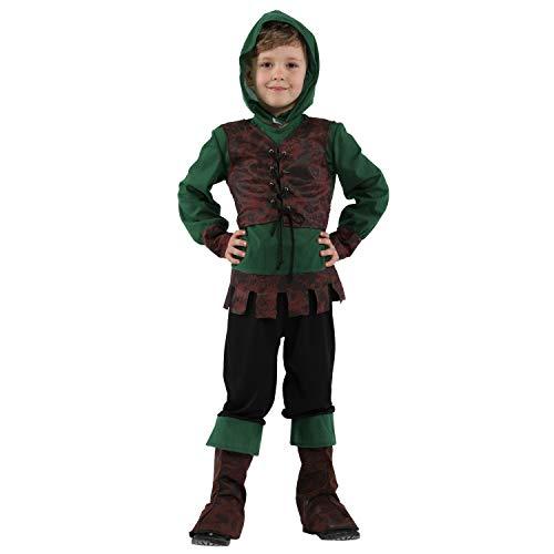 LOLANTA Jungen Robin Hood Kostüm Kinder Halloween Robin Hood Cosplay Kostüm (6-7 - Robin Rotkehlchen Kostüm
