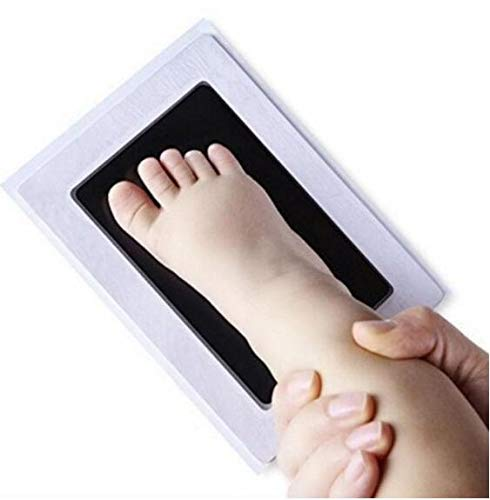 Baby wiederverwendbar sicheres Handwerk ungiftig Handabdruck Fußabdruck Kleinkinder b