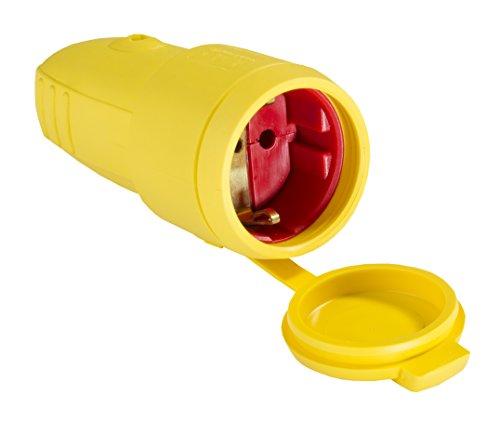 as - Schwabe Gummi Kupplung, ohne Kabel - IP 44 für den Aussenbereich geeignet, gelb, 62413