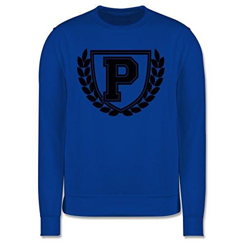 Anfangsbuchstaben - P Collegestyle - Herren Premium Pullover Royalblau