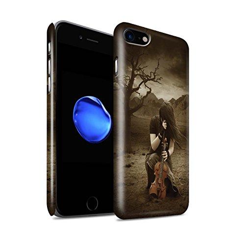 Offiziell Elena Dudina Hülle / Glanz Snap-On Case für Apple iPhone 8 / Melodie der Stille Muster / Trost der Musik Kollektion Verlassen