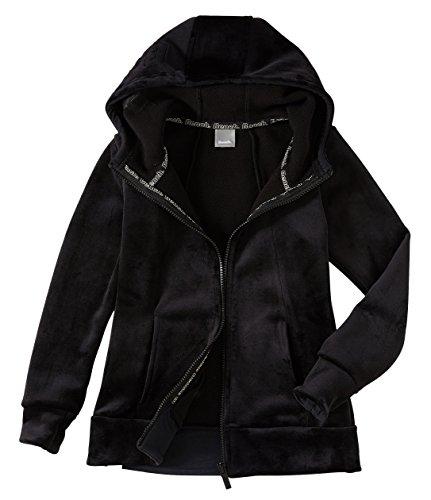 Bench BKGE002017 FLEECE Hoody warme Kuschel-Fleece Jacke mit Kapuze Schwarz (Black), EU 176 (Mädchen Fleece Jacke Mit Kapuze)