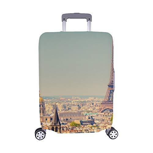 Vista sulla copertura della valigia della protezione del bagaglio di viaggio della cassa del carrello di Parigi Francia Spandex della torre Eiffel 28,5 x 20,5 pollici