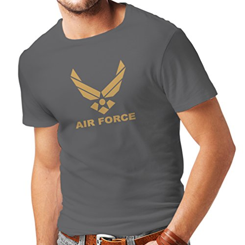 Männer T-Shirt United States Air Force (USAF) - U. S. Army, USA Armed Forces (XXX-Large Graphit Gold) (Air Army Uniform Us Force)