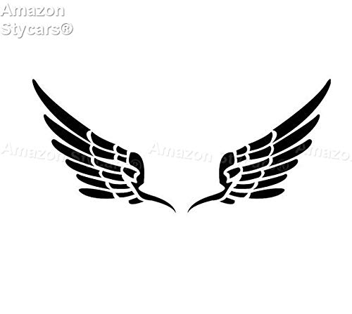 Stycars® Car Stickers, [14.2 * 6.4Cm] ''Small Pure Angel Soft Wings'' Decal Vinyl Car/Window Stickers