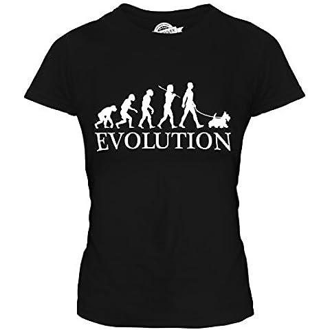 CandyMix Scottish Terrier Evoluzione Umana T-Shirt da Donna Maglietta