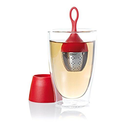 Ad Hoc 10TE09 - Bola infusora para el té, color rojo