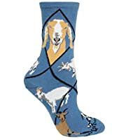 Goat Design Novelty Socks In Blue (Medium)