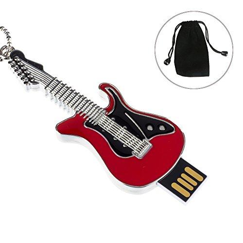 MAXINDA 16GB Witzige Geschenk Gitarre USB Stick Lustige Speichersticks(Rot)