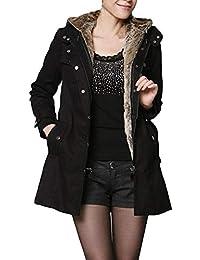 it cappotti Giacche Abbigliamento e Donna Nero Amazon I0UwxqdfU