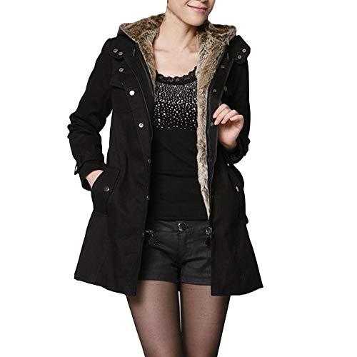 Beautyjourney cappotto donna elegante pelliccia faux giacca donna invernale lungo cappotti donna invernali eleganti parka lunghi elegante trench giubbotto donna invernale elegante