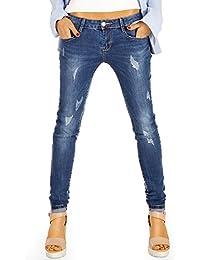 Bestyledberlin Damen Jeans Skinny zerrissene Röhrenjeans Hüftjeans, Stretch Damenjeans Hose j04g