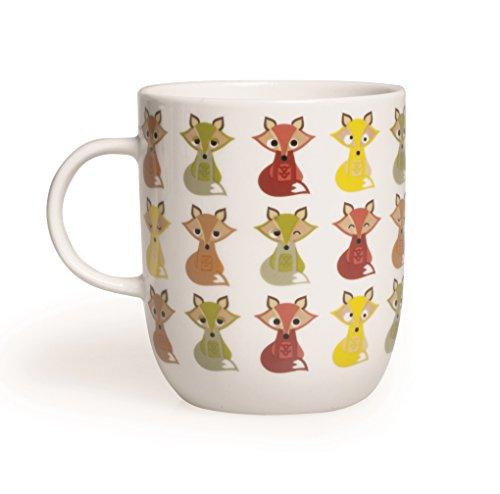 Excelsa Animals Tasse mug, 400 ml, porcelaine, blanc Renard 8.9x8.9x10.6 cm Blanc/multicolore
