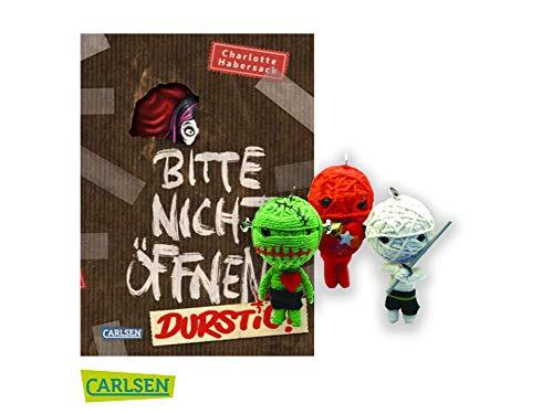 Carlsen Verlag Durstig! Bitte Nicht öffnen (3. Band, Gebundene Ausgabe) + 1. Coole Voodoo Puppe (Verschiedene Motive, inkl. Schlüsselring)