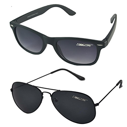 Mafs-Combo-Pack-of-2-Classic-Black-Aviator-Wayfarer-Unisex-SunglassesDsc06640Black