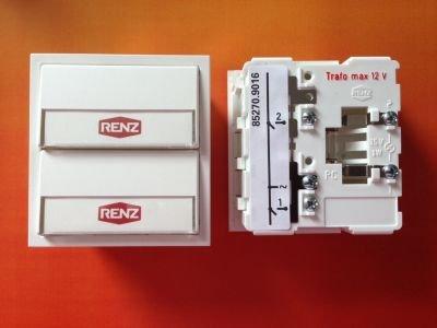 RENZ Tastenmodul mit 2 Klingeltaster weiß RENZ Nummer 97-9-85270 Co 9