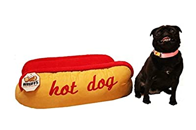 Hot Dog Pet Dog Bed by Wruffs - Luxury and Comfy Fabrics for Small Dogs