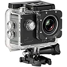 "SJCam SJ4000 Plus - Videocámara deportiva (WiFi integrado, LCD 1.5"", 1080p 30 fps, sumergible hasta 30 m) color negro, - [Versión español] (Reacondicionado Certificado)"