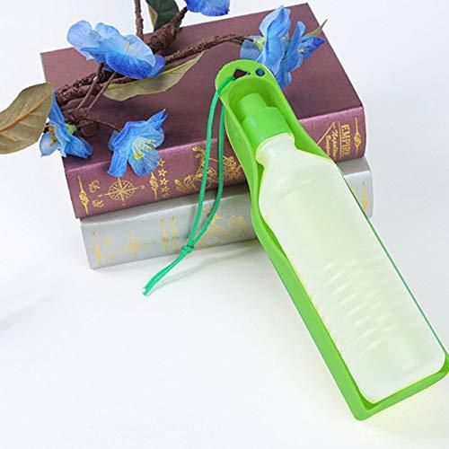 Mallalah 500ml Distributore di Acqua Bottiglia Portatile Cane Gatto Cucciolo Viaggio in plastica Borraccia con abbeveratoio