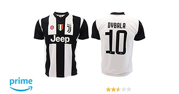 bf3eb2e33 Soccer Football T-Shirt PAULO DYBALA 10 Juventus HOME Season 2018-2019  Official REPLICA with LICENSE - All The Sizes BOY and ADULT (S Small)   Amazon.co.uk  ...
