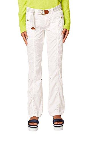 edc by ESPRIT Damen Hose 998CC1B804, Weiß (White 100), 36/LG