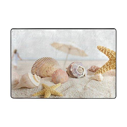 ingbags gelb Strand Seestern Sand Muscheln Wohnzimmer Essbereich Teppiche 3x 2Füße Bed Room Teppiche Büro Teppiche Moderner Boden Teppich Teppiche Home Decor, multi, 3 x 2 Feet