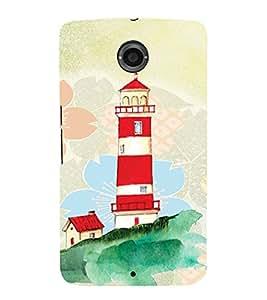PrintVisa Travel Lighthouse Art 3D Hard Polycarbonate Designer Back Case Cover for Motorola Motorola Google Nexus 6