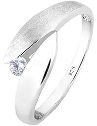 Elli Damen-Wickelring 925 Sterling Silber Zirkonia weiß Brillantschliff 06400797_54