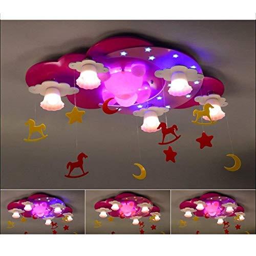 Bären-deckenleuchte (GCCI House of Lustre Kind Kreative Feuer Prinzessin Niedlichen Kleinen Bären Led Deckenleuchte Mädchen Cartoon Schlafzimmer Kinder Lightshome Dekoration)