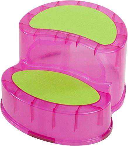 Bieco 79000111 - Sitz/Tritt, 2 Stufen je, ca. 10cm, ca. 39 x 34 x 20 cm, rosa