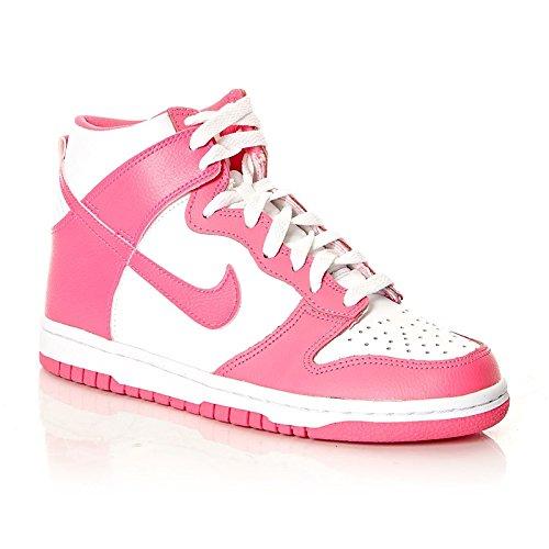 NIKE Dunk High 308319-127Femme Chaussures Blanc Blanc - Weiß (Weiß-Pink)