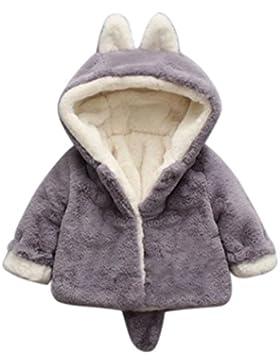 URSING Baby Säugling Mädchen Jungen Herbst Winter Warm Kapuzenmantel Mantel Jacke niedlich Ohr Schwanz Übergangsmantel...