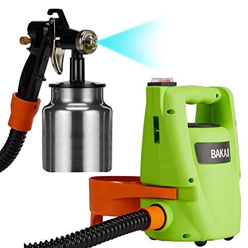 Stazione Spray Pistola a Spruzzo Professionale per Verniciare Casa Compressore Potenza 550W Flusso Regolabile con Contenitore Pittura 1000ml e Test Viscosità Vernice